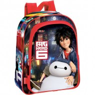 mochila junior big hero 6 disney color rojo