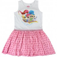 vestido single jersey shimmer and shine rosa 4 años