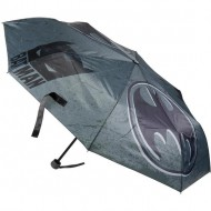 PARAGUAS MANUAL PLEGABLE BATMAN - GRIS - 53CM