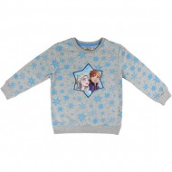 sudadera cotton brushed frozen 2 gris 6 años