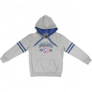 sudadera con capucha cotton brushed avengers gris talla 10 años