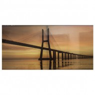 cuadro de tela sunset bridge