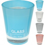 vela grande perfumada glass blue water