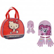 set gorro guantes my little pony bolso hello kitty