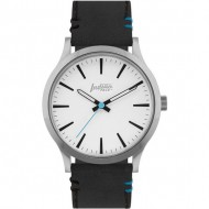 reloj latitude silver and white pulsera negra