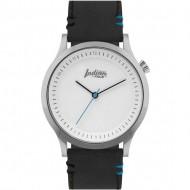 reloj scope silver and white pulsera negra