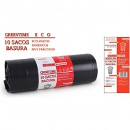 10 sacos basura 95x135 g180 150 l greentime eco