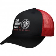 gorra the indian face free soul negro y rojo