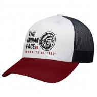 gorra the indian face free soul blanco rojo y negro
