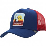 gorra the indian face born to windsurf azul y rojo