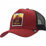 gorra the indian face born to skate rojo y negro