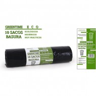 10 sacos basura 85x105 g110 100 l greentime eco
