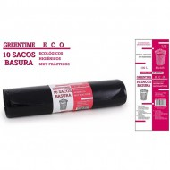 10 sacos basura 85x105 g200 100 l greentime eco
