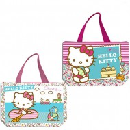 bolsa de playa 34x50cm hello kitty kids surtidos