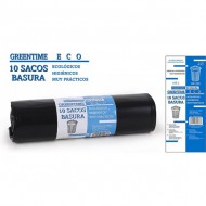 10 sacos basura 80x105 g150 100 l greentime eco