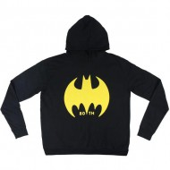 sudadera con capucha cotton brushed batman negro talla xxl