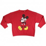 sudadera cotton brushed mickey rojo talla l