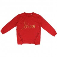 sudadera cotton brushed minnie rojo talla 8 años
