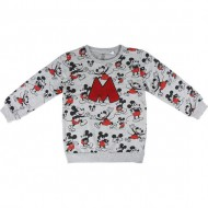 sudadera cotton brushed mickey gris talla 3 años