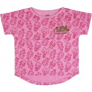 camiseta corta single jersey lol rosa talla 8 años