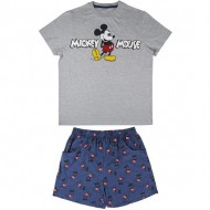 pijama corto single jersey mickey gris talla l