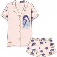 pijama corto single jersey princess mulan rosa talla xl