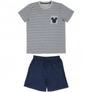 pijama corto single jersey mickey gris talla m