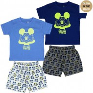 pijama corto glow in the dark single jersey mickey pearl talla 3 años