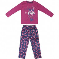 pijama largo interlock minnie fucsia talla 2 años