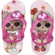 chanclas luces lol rosa talla 31