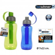 botella sport 600ml push bewinner 2 colores surtidos