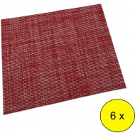 lote 6 manteles individuales color rojo 30x45cm
