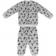 chandal cotton brushed mickey gris talla 12 meses