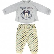 chandal cotton brushed minnie gris t12 meses