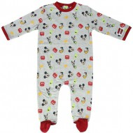 pelele single jersey mickey grey talla 12 meses