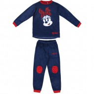 pijama largo velour poly minnie navy talla 10a