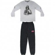 pijama largo interlock star wars gris talla l