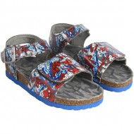 sandalias casual spiderman red