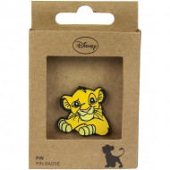 pin metal lion king naranja