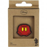 pin metal mickey rojo