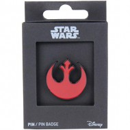 pin metal star wars rebel rojo